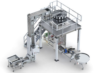 Fully integrated Vertical Bagging Line